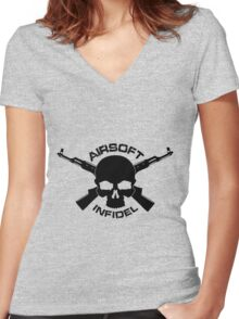Airsoft Infidel Women's Fitted V-Neck T-Shirt