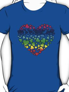 Colorful Hearts T-Shirt