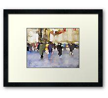 Balloon Seller Framed Print