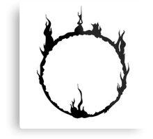 Dark Sign - Black  Metal Print