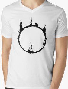 Dark Sign - Black  Mens V-Neck T-Shirt