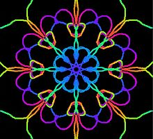 Personal Electromagnetic Field Rainbow Kaleidoscope  by SaraValor