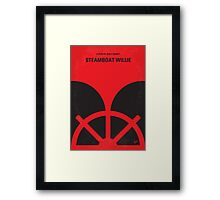 No085 My Steamboat Willie minimal movie poster Framed Print