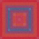 Blue Box Abstract by Betty Mackey