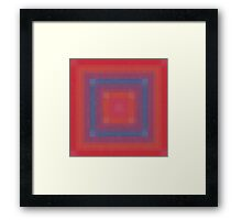 Blue Box Abstract Framed Print