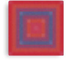 Blue Box Abstract Canvas Print