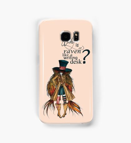 Why is a raven like a writing desk ? - Mad Hatter Samsung Galaxy Case/Skin