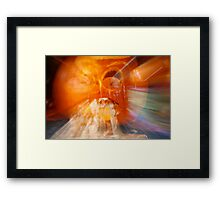 Vomiting Pumpkin Framed Print