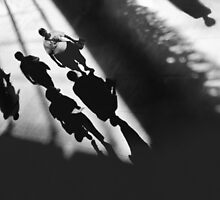 Solemn Silhouette Parade by planetmar