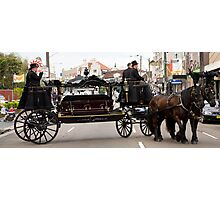 Horse drawn hearse Photographic Print