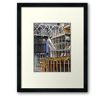 city mesh Framed Print
