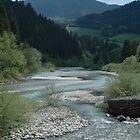 River through the Alps by Diego Marando
