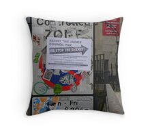 metropolitan overlay Throw Pillow