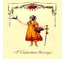 Vintage Valentine Messages Photographic Print