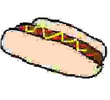 Horribly Compressed Drawing of a Hot Dog by DeckoYo