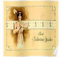 Vintage Valentine Wishes Poster