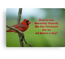 God is our Security Guard Metal Print