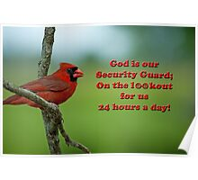 God is our Security Guard Poster