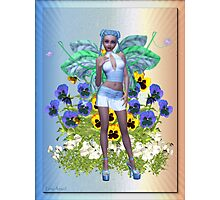 Sweet Pansy .. a flower fairy Photographic Print