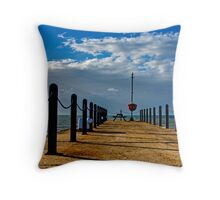 Jetty at Whitstable Throw Pillow