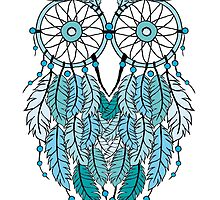 Blue Dreamcatcher Owl by beakraus