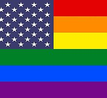 Rainbow Flag USA by Mark Podger