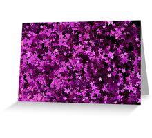 Pink Glitter Star Greeting Card