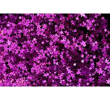 Pink Glitter Star Photographic Print