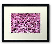 Light pink glitter star Framed Print