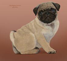 Pug puppy cuteness by JaneEden