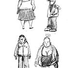 superfast figure sketches town centre by Jo Cave  (cavecorner)