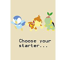 4th Gen Starters Photographic Print