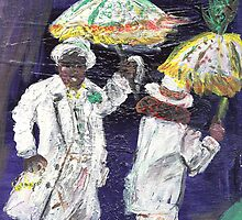 Mardi Gras Unbrellas #1 by Barbara  Mangum-McElveen