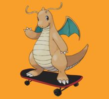 Dragonite on a skateboard by tnoteman557