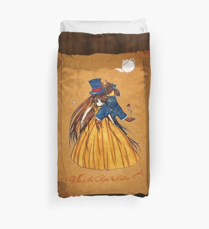 Who is the Mad Hatter ? Beauty and the Beast Duvet Cover
