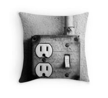Off Switch Throw Pillow