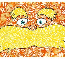 The Lorax Zentangle by JustineFisher