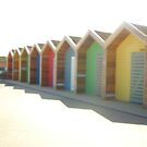 Beach huts at Blyth by GEORGE SANDERSON