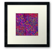 Purple Flower Burst Framed Print