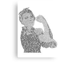 Rosie the Riveter - Black&White Metal Print