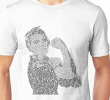 Rosie the Riveter - Black&White Unisex T-Shirt
