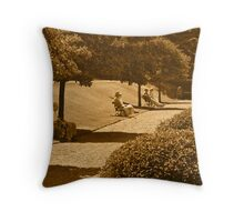 A Country Park Throw Pillow