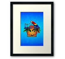 Island Time And Parrot Framed Print