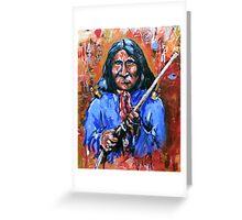 The Last Warrior.....Goyathlay Greeting Card