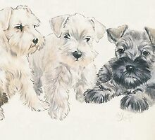 Miniature Schnauzer Puppies by BarbBarcikKeith