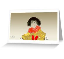 Girl in Red-Shoes Greeting Card