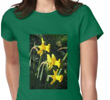 Chorus of Daffodils (Lent Lilies) Womens Fitted T-Shirt