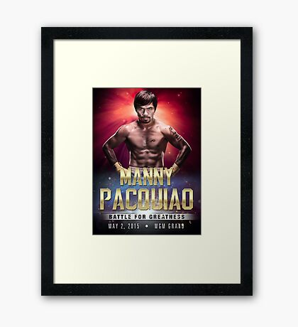 """Manny Pacquiao """"Battle for Greatness"""" Framed Print"""