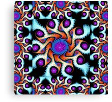 Playful pattern in blue, purple, orange and white Canvas Print