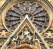 Paris - Sainte Clotilde Basilica frontage by jean-louis bouzou